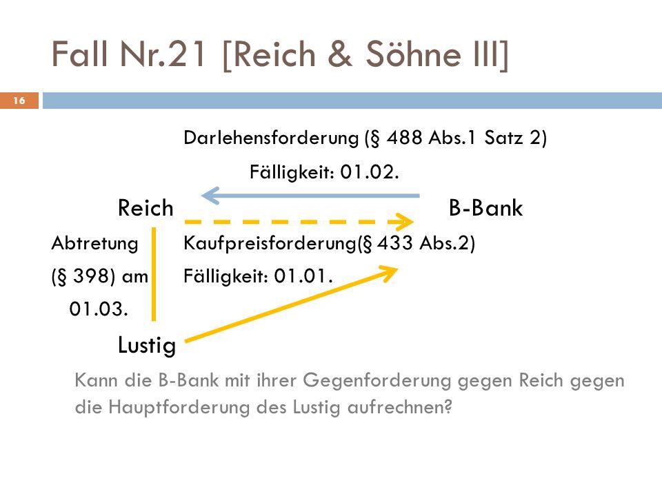 Fall Nr.21 [Reich & Söhne III]